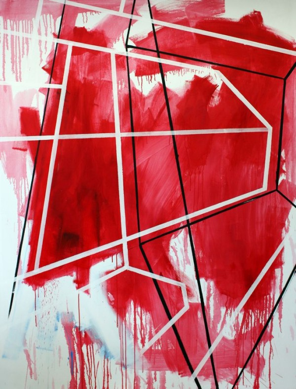 Red  [Acrylic on canvas. 200 x 149 cm. 2011. Sold]