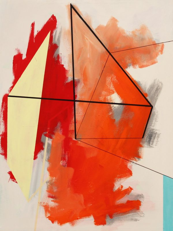 Across the line [Acrylic on canvas. 100 x 75 cm. 2016. Sold.]