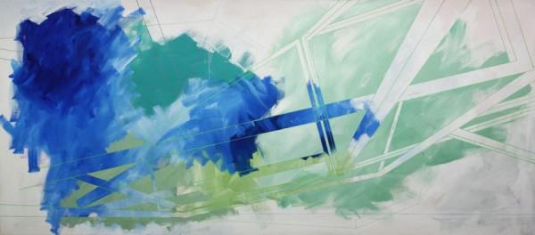 Foggy situation  [Acrylic on canvas. 93 x 210 cm. 2013.]