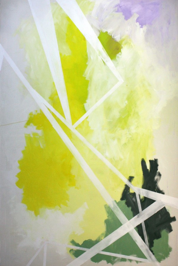 Yellow dawn [Acrylic on canvas. 200 x 135 cm. 2013.]