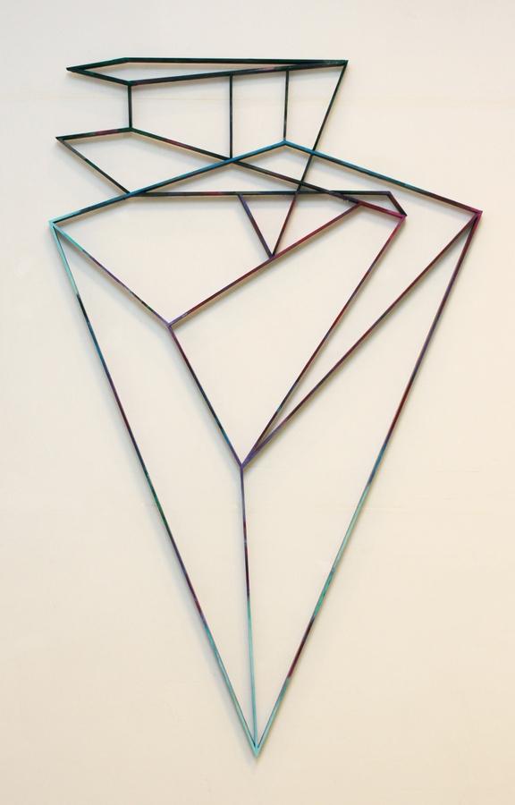 Diamond reflection  [Wood construction. 209 x 129 x 3,5 cm. 2014.]
