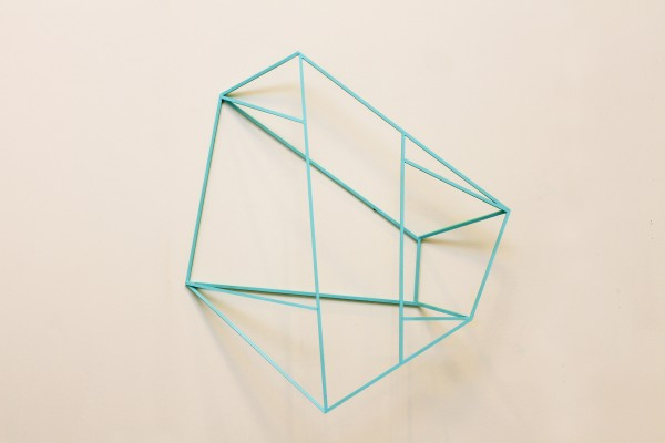 Cube [Wood construction. 101 x 83 x 20,5 cm. 2016. Sold.]