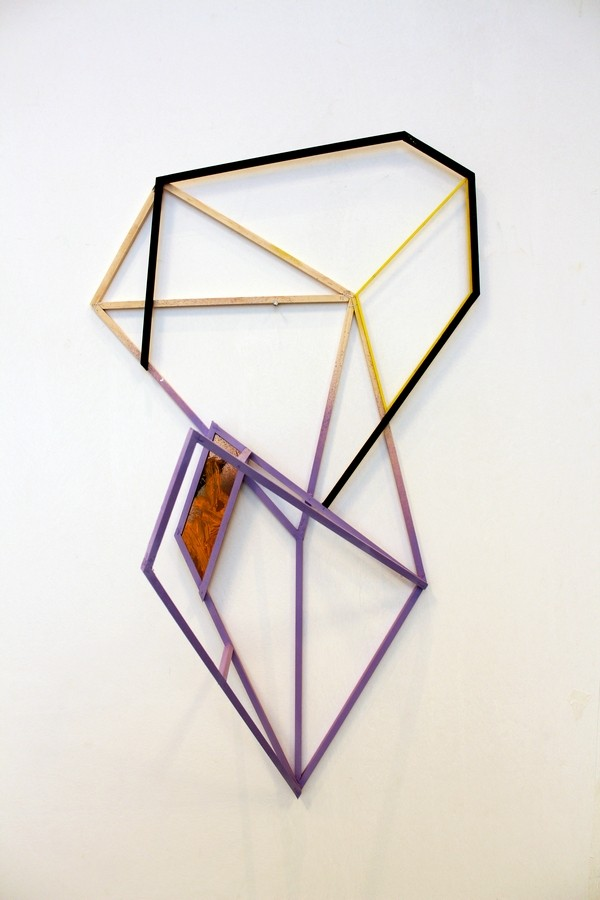 Deconstructed diamond  [Wood construction. 89 x 51 x 24 cm. 2015. Sold.]