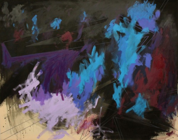 Galaxy  [Acrylic on canvas. 120 x 160 cm. 2015.]