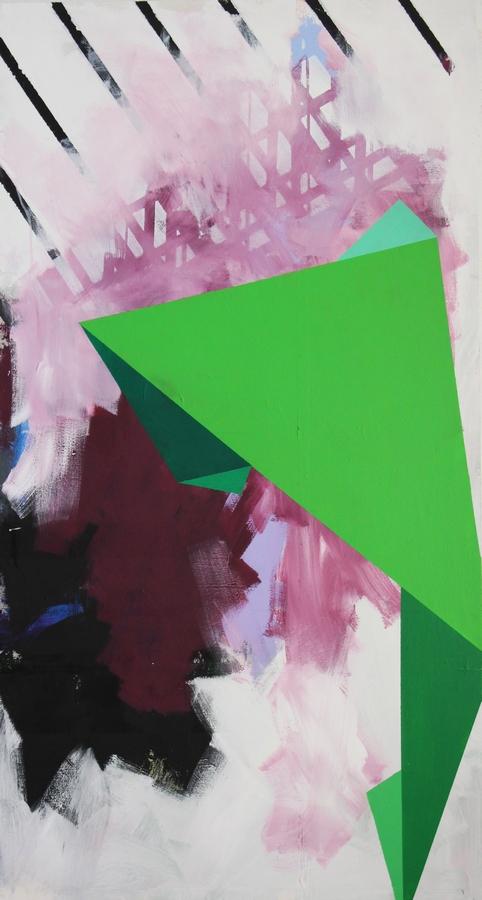 Building blocks  [Acrylic on canvas. 150 x 80 cm. 2015]
