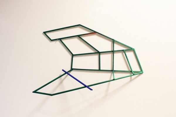 Flight simulation  [Wood construction. 63 x 93 x 23 cm. 2015. Sold.]