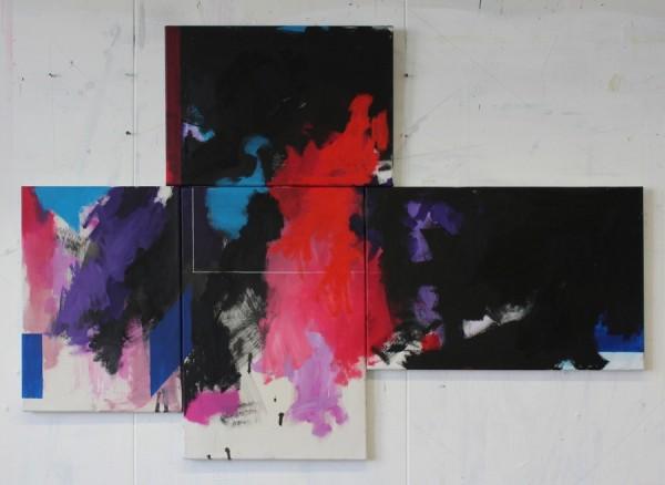 Twomble  [Acrylic on canvas. 96 x 134 cm. 2014.]