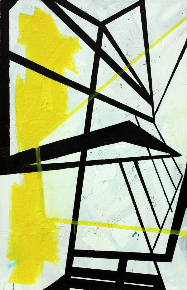 Cutting [ Acrylic on canvas. 130 x 85 cm. 2012. Sold.]