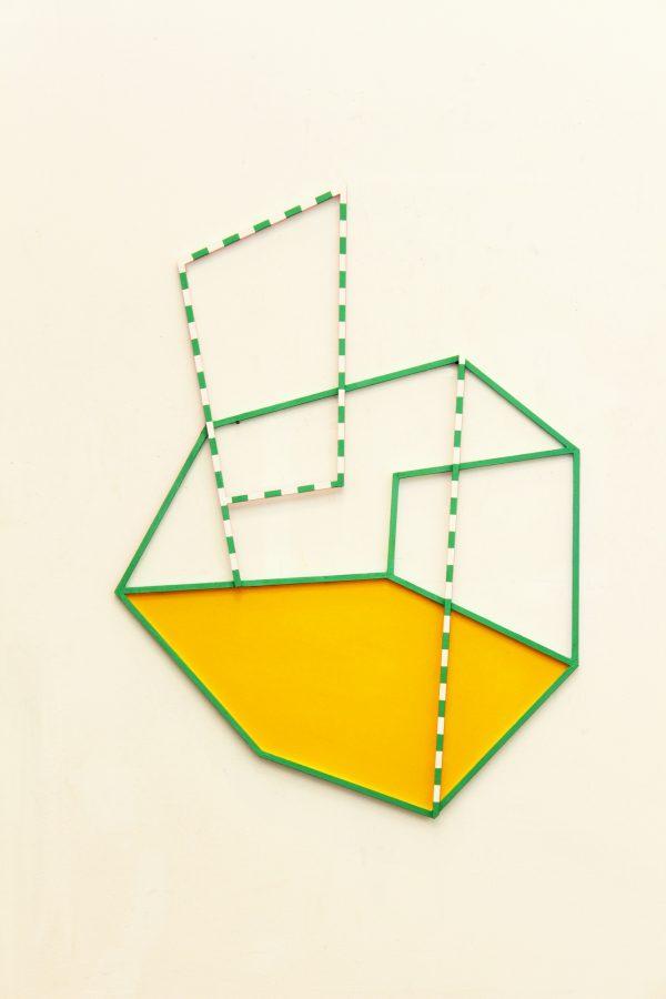 Cubist landscape. [ Wood construction, 95 x 70 x 1,5 cm. 2018.]