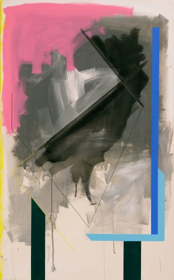 Interior. [Acrylic on canvas. 160 x 100 cm. 2018.]